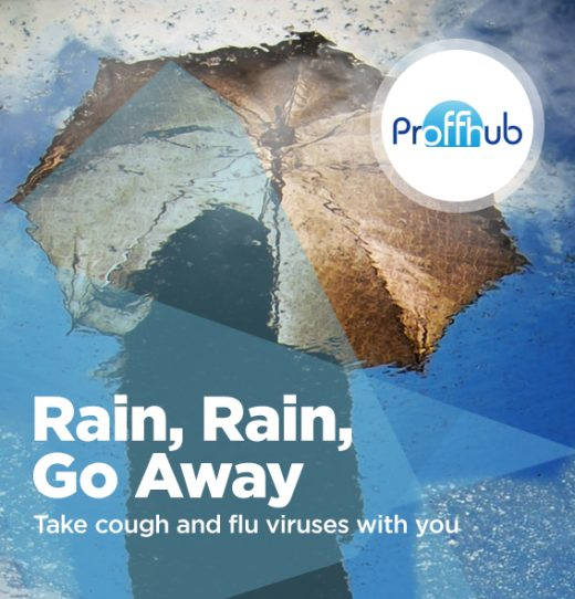 Proffhub rain, rain go away, take cough and flu with you
